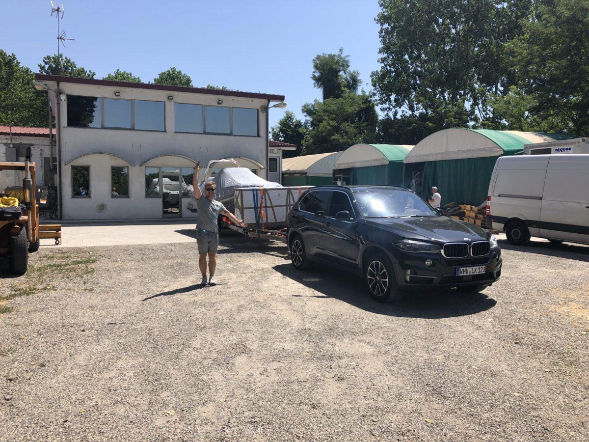 ZAR 65 Abholung bei ZAR Formenti in Italien